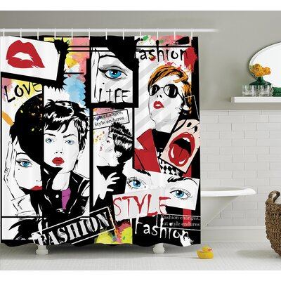 Modern Fashion Shower Curtain Set Size: 84 H x 69 W