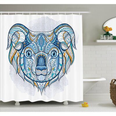 Queenie Tribal Ethnic Koala Shower Curtain Set Size: 84 H x 69 W
