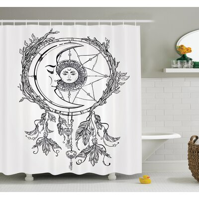 Cliff Dreamcatcher Moon Shower Curtain Set Size: 84 H x 69 W