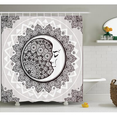 Cliff Bohemian Pattern Shower Curtain Set Size: 84 H x 69 W