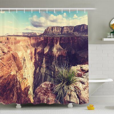 House Canyon Rocks Formed Eroding Habita Feature of Geologic Movement Shower Curtain Set Size: 75 H x 69 W