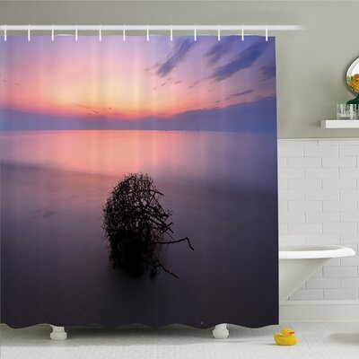 Scenery House Creepy Bushes in Eastern Heaven Serene Mother Earth Home Shower Curtain Set Size: 84 H x 69 W