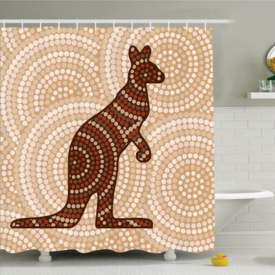 Nathanael Kangaroo with Dot Shower Curtain Set Size: 70 H x 69 W