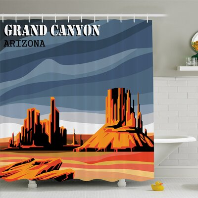 House Major Canyon Fantastic Shadows and Contrasts with Digital Added Dimesions Shower Curtain Set Size: 75 H x 69 W