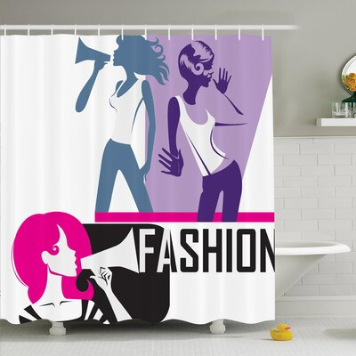 Teen Elegant Fashion Shower Curtain Set Size: 84 H x 69 W