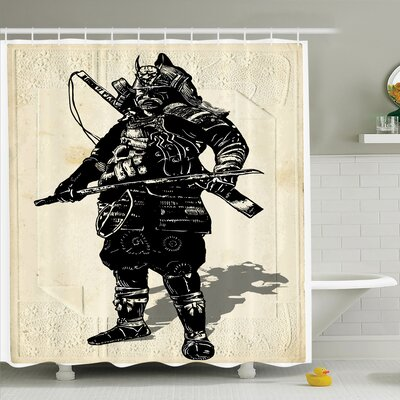 Rick Medieval Warrior Art Shower Curtain Set Size: 75 H x 69 W