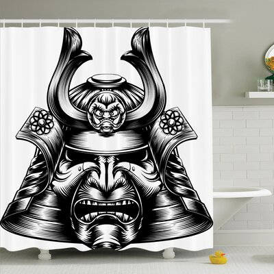 Rick Decor Samurai Mask Shower Curtain Set Size: 75 H x 69 W
