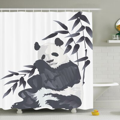 Joellen Panda in Zoo Chinese Shower Curtain Set Size: 70 H x 69 W
