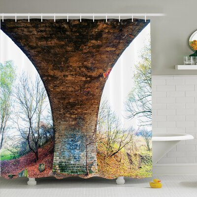 Rustic Decor Pillar of Stone Shower Curtain Set Size: 70 H x 69 W