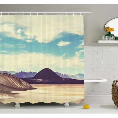Northern Brazilian Plateau Wanderlust Serene in Abandoned Rocks Paint Shower Curtain Set Size: 75 H x 69 W