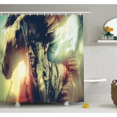 Tattoo Angel Wings Skull and Heart full of Blood Symbol of Real Love Image Shower Curtain Set Size: 84 H x 69 W