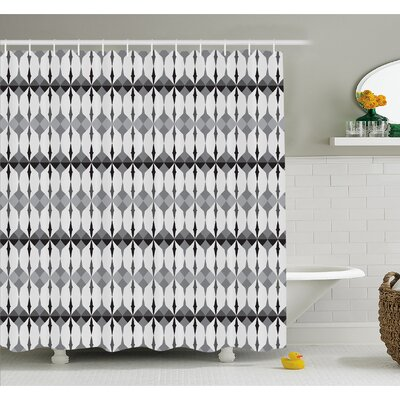 Timeless Old Nordic Linked Motif with Triangles and Touch Artisan Picture Artwork Shower Curtain Set Size: 75 H x 69 W