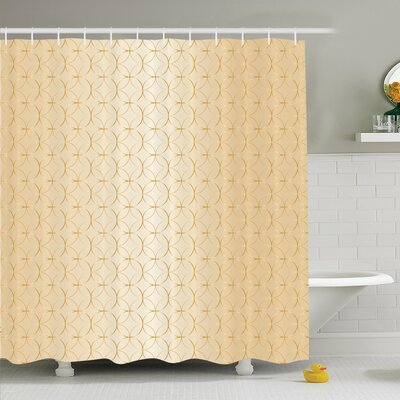 Geometric Shower Curtain Set Size: 70 H x 69 W