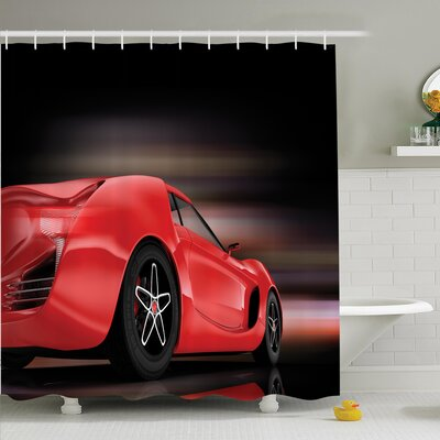 Ervin Futuristic Sports Shower Curtain Set Size: 84