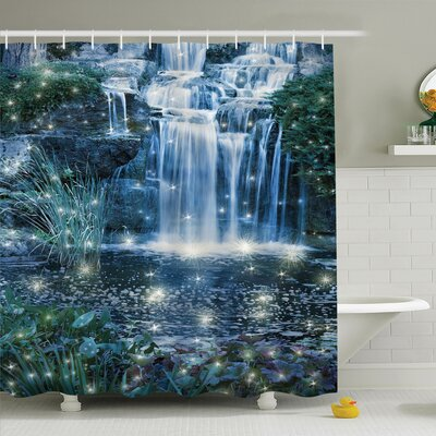 Waterfall Magic Fairy Cascade Shower Curtain Set Size: 84 H x 69 W