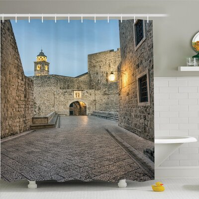 Tamekia Famous Monument Tower Shower Curtain Set Size: 84 H x 69 W