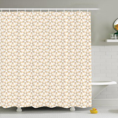 Pastel Flower Ornaments Shower Curtain Set Size: 75