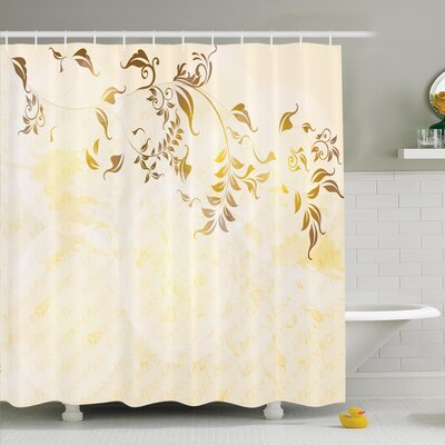 Elegant Vintage Ornament Shower Curtain Set Size: 70 H x 69 W
