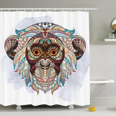 Aguilar African Tribal Totem Shower Curtain Set Size: 75 H x 69 W