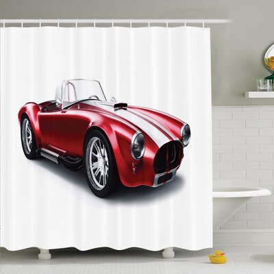Old Fashioned Vintage Car Shower Curtain Set Size: 70 H x 69 W