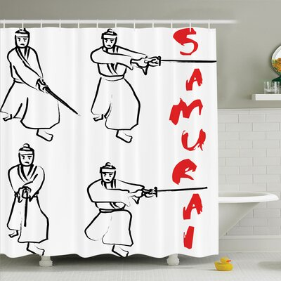 Rick Decor Samurai Katana Shower Curtain Set Size: 84 H x 69 W
