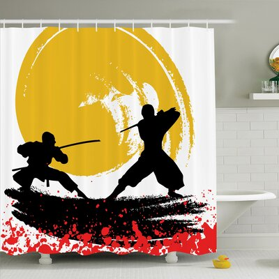 Rick Decor Warrior Ninjas Shower Curtain Set Size: 84 H x 69 W