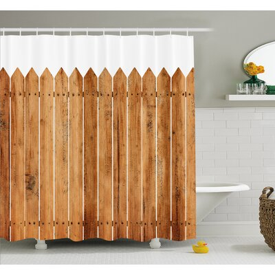 Nash Triangle Edged Timber Border Stripes Siding Woodwork Enclosing Tool Image Shower Curtain Set Size: 75 H x 69 W