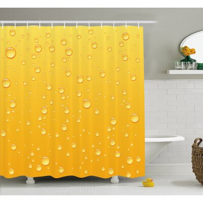 Background Like Beer in a Glass with Water Drops Graphic Art Prints Shower Curtain Set Size: 75 H x 69 W