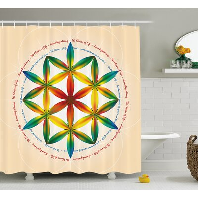 Symbol of Fundamental Aspect of Space and Time Esoteric New Spiral Print Shower Curtain Set Size: 70 H x 69 W