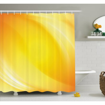 Radiate Light Lines like Sand with Digital Reflection Shower Curtain Set Size: 84 H x 69 W