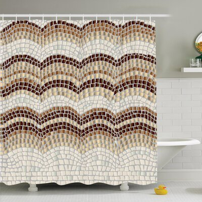 Vintage Antique Mosaic Shower Curtain Set Size: 84 H x 69 W