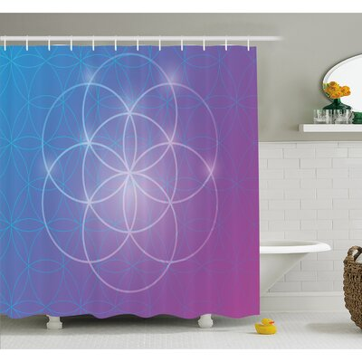 Round Forms in Two Dimensional Space Axis Historical Artifact Image Shower Curtain Set Size: 75 H x 69 W