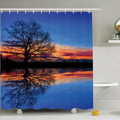 Nature Twilight Magical Shower Curtain Set Size: 70 H x 69 W