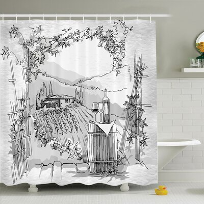 Sketch Monkey Hipster Retro Shower Curtain Set Size: 84 H x 69 W