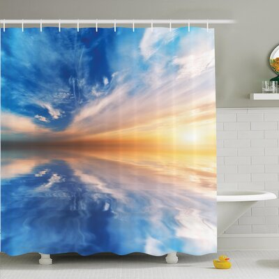 Sky Reflections Sunset Shower Curtain Set Size: 70 H x 69 W