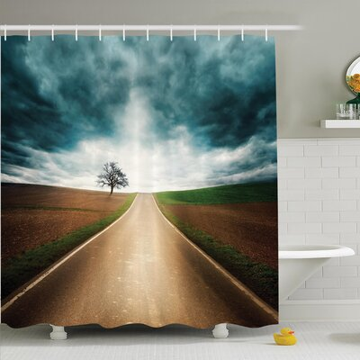 Debby Travel Adventure Shower Curtain Set Size: 84 H x 69 W