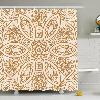 Tribal Ethnicity Shower Curtain Set Size: 70 H x 69 W