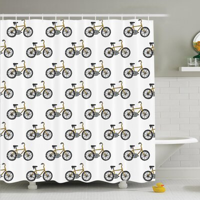 Lake Bicycle Shower Curtain Set Size: 84 H x 69 W