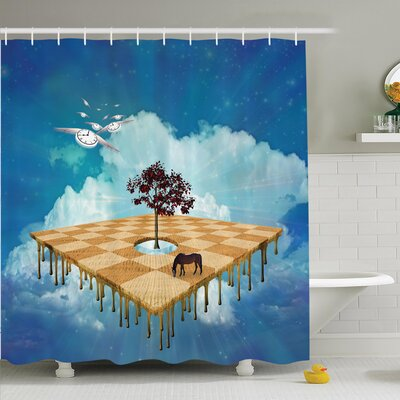 Nathanael Surreal Landscape Shower Curtain Set Size: 84 H x 69 W