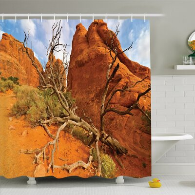 National Parks Home Rock on Grand Canyon Monument Valley Heart of Nature Utah Photo Shower Curtain Set Size: 75 H x 69 W