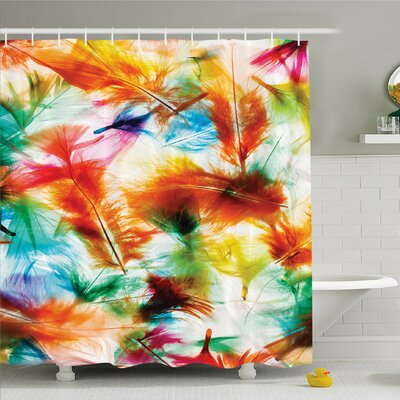 Psychedelic Blurry Mix Pure Energy of Love and Life Wing Art Icons �Shower Curtain Set Size: 70 H x 69 W