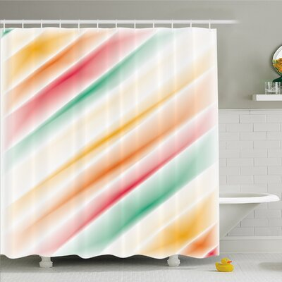 Modern Art Home Purity Complex Themed Blurry Gradient Diffraction Display Creative Concept Shower Curtain Set Size: 70 H x 69 W