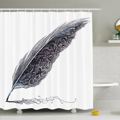 Image of a Dated Classic Quill�Shower Curtain Set Size: 75 H x 69 W