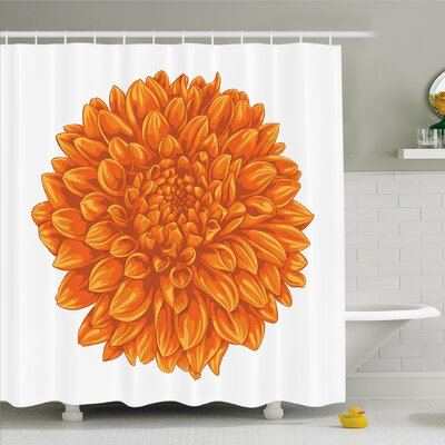 Vintage Floral Leaf Love Valentines Mother Days Home Decor Shower Curtain Set Size: 70 H x 69 W
