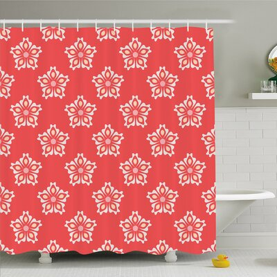 Abstract Indian Mandala Various Female Girl Floral Victorian Shapes Artwork Shower Curtain Set Size: 70 H x 69 W