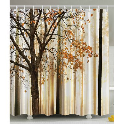 Fall Trees Print Shower Curtain