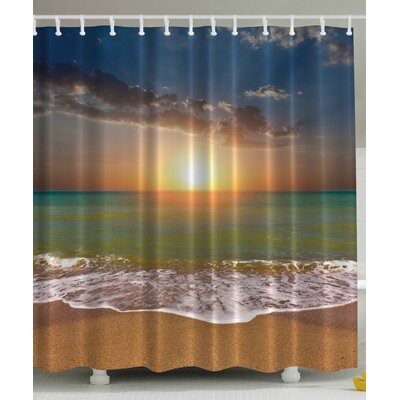 Ocean Print Shower Curtain
