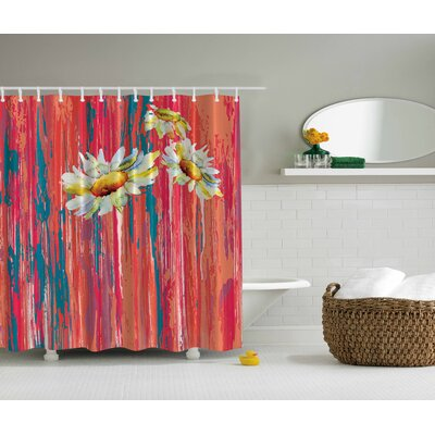 Daisies Print Shower Curtain