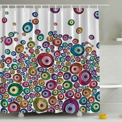 Beads Print Shower Curtain
