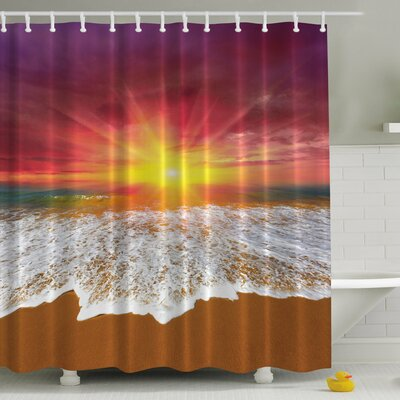 Beach Print Shower Curtain